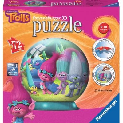Puzzle 3D Trolls, 72 Piese , Ravensburger