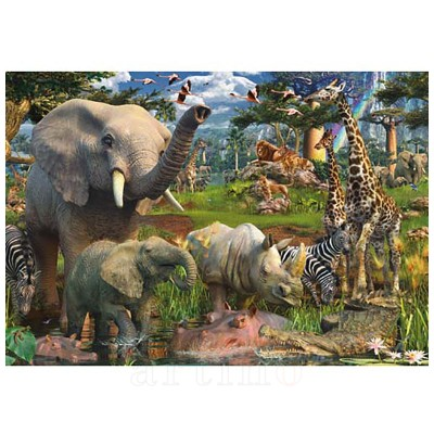 Puzzle Animale in Salbaticie, 18000 Piese, Ravensburger