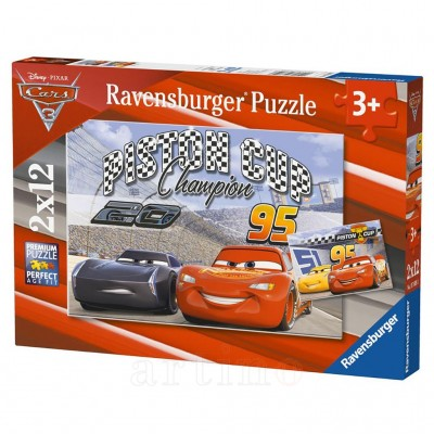 Puzzle Cars, 2X12 Piese, Ravensburger