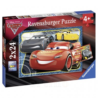 Puzzle Cars, 2X24 Piese, Ravensburger - mic