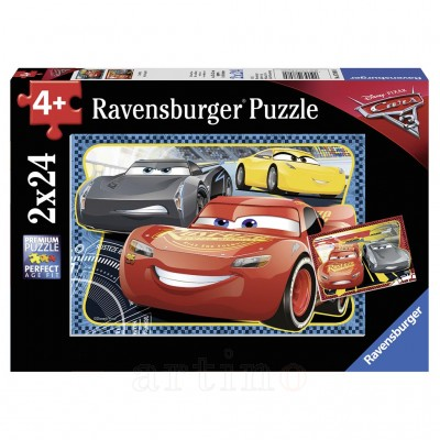 Puzzle Cars- Pot Sa Castig! 2X24 Piese, Ravensburger - mic