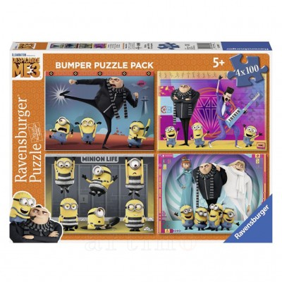 Puzzle Despicable Me 3, 4X100 Piese - mic