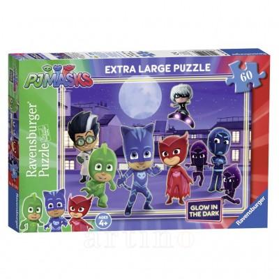 Puzzle Eroi in Pijamale, 60 Piese, Ravensburger - mic