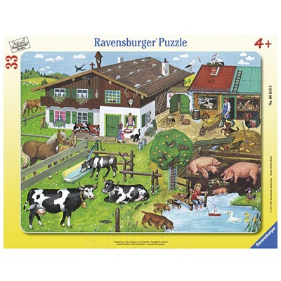Puzzle Familii de Animale, 33 Piese, Ravensburger - mic