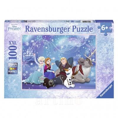 Puzzle Frozen, 100 Piese, Ravensburger - mic