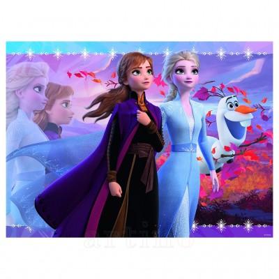 Puzzle Frozen II ELSA & ANNA, 100 piese, Ravensburger