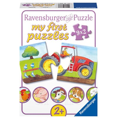Puzzle La Ferma, 9X2 Piese, Ravensburger - mic