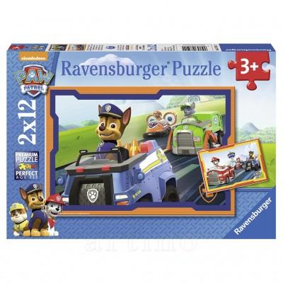 Puzzle Patrula Catelusilor in Actiune, Ravensburger - mic