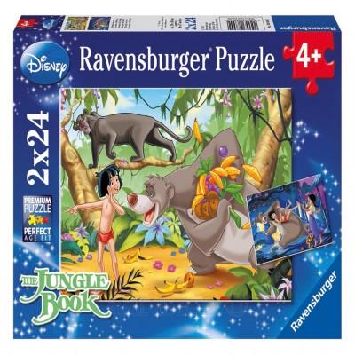 Prietenii Lui Mowgli, 2X24 Piese, Ravensburger