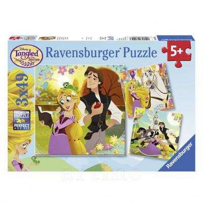 Puzzle Rapunzel, 3X49 Piese, Ravensburger  - mic