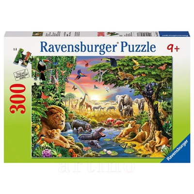 Puzzle Seara in Jungla, 300 Piese, Ravensburger