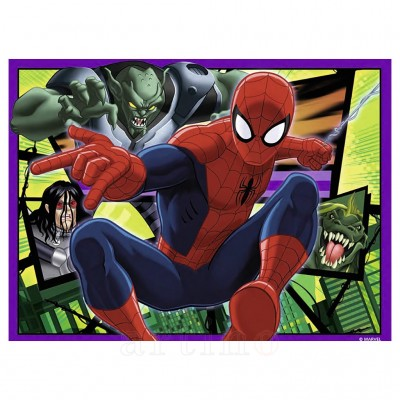Puzzle Spiderman, 4 seturi, 12/16/20/24 Piese, Ravensburger - mic