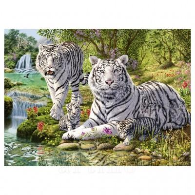 Puzzle Tigri Albi, 500 Piese, Ravensburger - mic