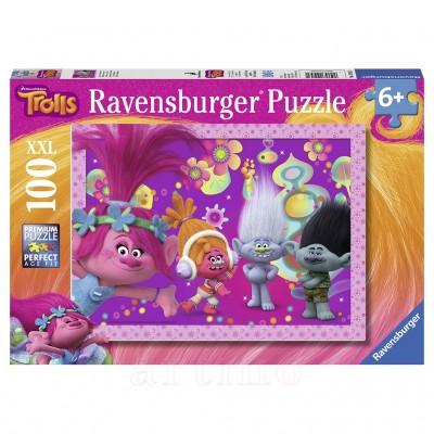 Puzzle Trolls, 100 Piese, Ravensburger  - mic