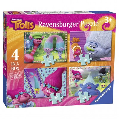 Puzzle Trolls, 12/16/20/24 Piese, Ravensburger