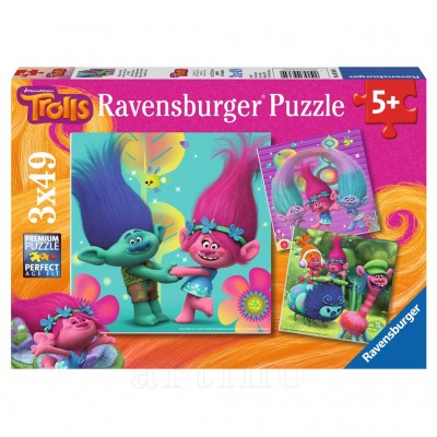 Puzzle Trolls, 3X49 Piese, Ravensburger