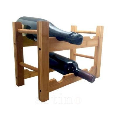 Rastel bambus pentru 6 sticle vin