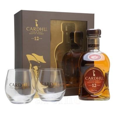 Whisky Cardhu 12 Ani + 2 pahare
