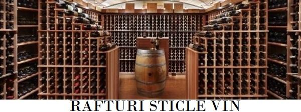 Rafturi sticle vin